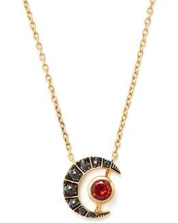 X Kate Moss Diamond, Garnet & Gold Necklace