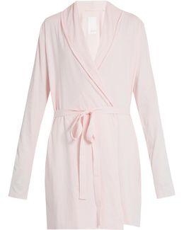Double Layer Cotton Wrap Robe