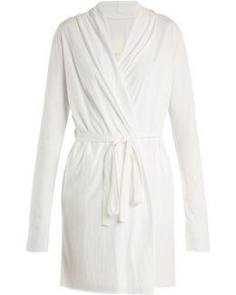 Wrap-around Cotton-jersey Robe