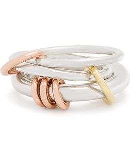 Orion Silver, Yellow & Rose-gold Ring
