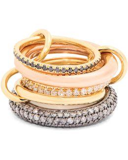 Nexus Diamond, Silver & Gold Ring