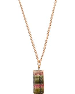 Diamond, Tourmaline & Rose-gold Necklace