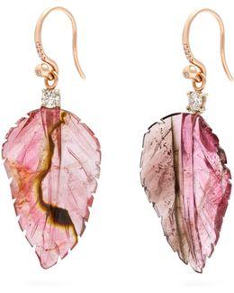 Diamond, Tourmaline & Rose-gold Earrings