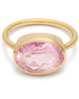 Tourmaline & Rose-gold Ring