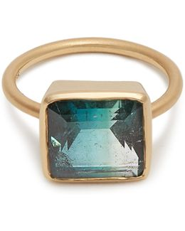 Tourmaline & Rose-gold Ring