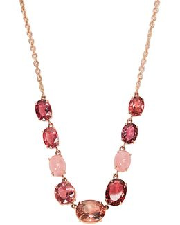 Opal, Tourmaline & Rose-gold Necklace