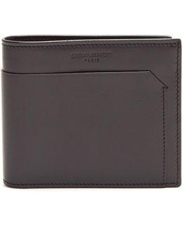 Logo-embossed Bi-fold Leather Wallet