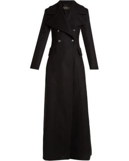 Oversized-lapel Double-breasted Wool Coat