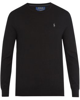 Crew-neck Logo-embroidered Wool Sweater