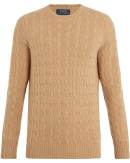 Crew-neck Cable-knit Cashmere Sweater