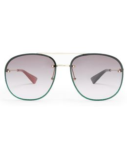 Glitter Aviator Sunglasses