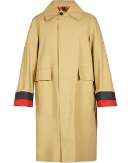 Point-collar Trench Coat