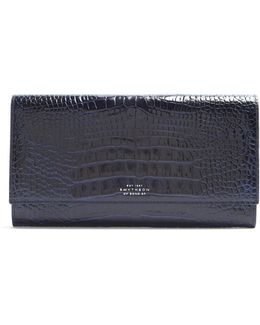 Mara Marshall Crocodile-effect Leather Wallet
