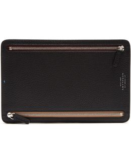 Burlington Grained-leather Currency Wallet