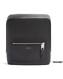 Greenwich Woven-leather Tech Case