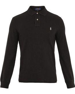 Long-sleeved Cotton-piqué Polo Shirt
