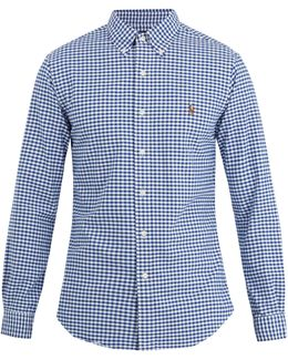 Slim-fit Gingham-cotton Shirt