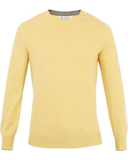 Crew-neck Wool-blend Knit Sweater