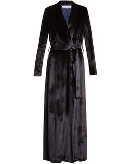 Belted Velvet Trench Coat