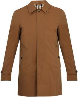 Roeford Single-breasted Cotton-gabardine Coat