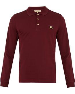 Talsworth Long-sleeved Cotton-piqué Polo Shirt
