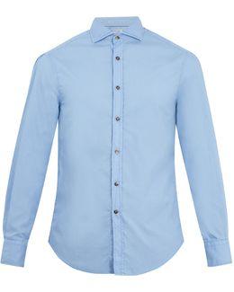 Single-cuff Cotton-poplin Shirt