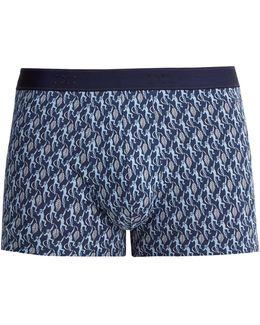 Monkey Stretch-cotton Boxer Shorts