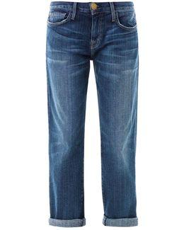 The Boyfriend Low-Rise Stretch-Denim Jeans