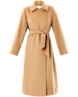 Manuela Camel-Hair Coat