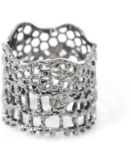 Silver-plated Vintage Lace Ring