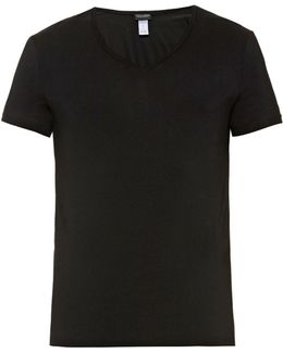 V-neck Micro-touch Jersey T-shirt