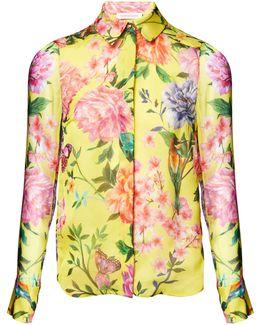 Duchess Garden Lemon Silk Shirt