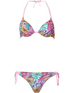 Pink Bolivian Bloom Moulded Cup Bikini