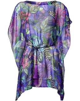 Blue Kantuta Valley Silk Kaftan