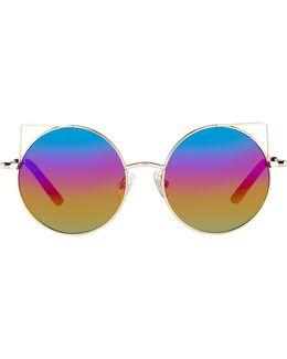 Rainbow Round Mirrored Sunglasses