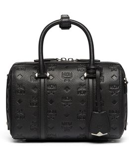 Essential Boston Bag In Monogrammed Leather