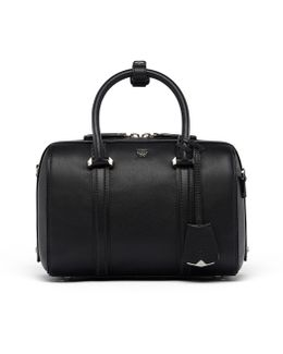 Essential Boston Bag In Smooth Leather