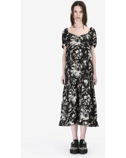 """Ruffled Négligé """"soho Florals"""" Dress"""