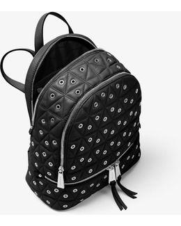 Rhea Medium Grommeted Leather Backpack