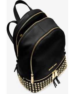 Rhea Small Studded Leather Backpack