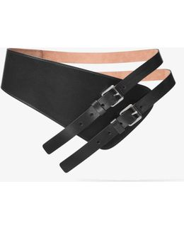 Double-strap Calf Leather Belt