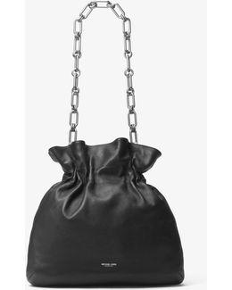 Lenox Leather Chain Hobo