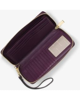 Jet Set Travel Quilted-leather Continental Wristlet