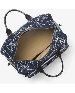 Grant Palm-print Duffel Bag