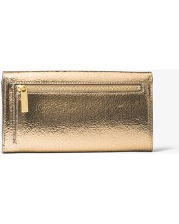 Bancroft Crackled Metallic Leather Continental Wallet