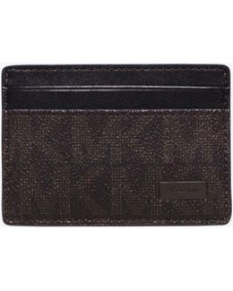 Jet Set Logo Money-clip Card Case