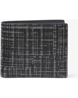 Harrison Crosshatch Leather Billfold Wallet