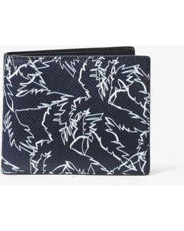 Harrison Slim Palm-print Leather Billfold Wallet