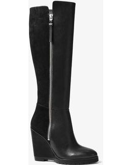 Clara Suede Wedge Boots