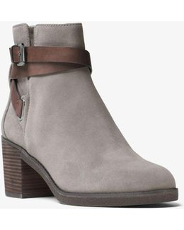 Fawn Suede Ankle Boot